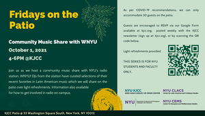 image from Fridays on the Patio - Music Share with WNYU
