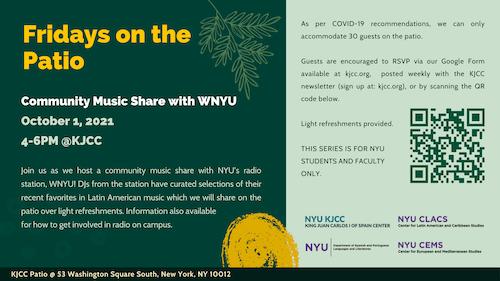 Fridays on the Patio - Music Share with WNYU