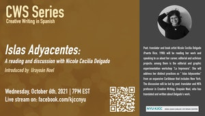 image from CWS Online Series | Islas Adyacentes: A reading and a discussion with Nicole Cecilia Delgado