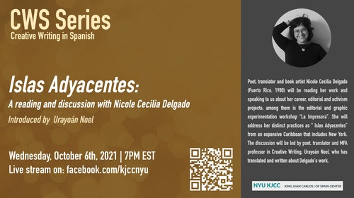 CWS Online Series | Islas Adyacentes: A reading and a discussion with Nicole Cecilia Delgado