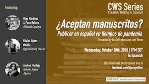 image from Online Event | CWS Series | ¿Aceptan manuscritos? Publicar en español en tiempos de pandemia.