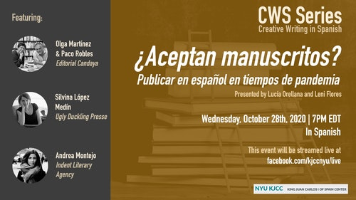 Online Event | CWS Series | ¿Aceptan manuscritos? Publicar en español en tiempos de pandemia.