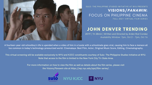 image from FILM SERIES: VISIONS/PANAWIN - FOCUS ON PHILIPPINE CINEMA | FILM: JOHN DENVER TRENDING (2019, 1h 38min)