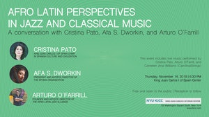 image from VIDEO | King Juan Carlos Chair CRISTINA PATO | A CONVERSATION WITH CRISTINA PATO, AFA S. DWORKIN AND ARTURO O'FARRILL: Afro Latin Perspectives in Jazz and Classical Music
