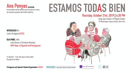 """""""Estamos todas bien"""" by Ana Penyas: the award-winning graphic novel that saves our grandmothers' voices from the oblivion of history"""