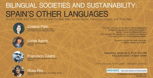 image from King Juan Carlos Chair CRISTINA PATO | ROUND TABLE AND RECITAL: Bilingual Societies and Sustainability: Spain's other languages