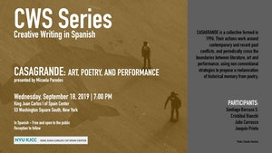 image from CWS Series | Casagrande: Art, Poetry and Performance