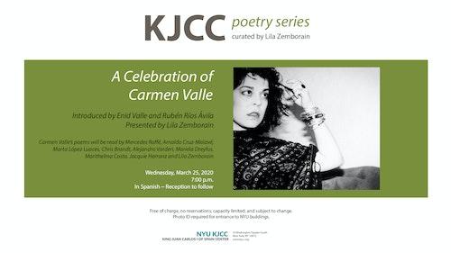 **EVENT CANCELLED** KJCC Poetry Series | A Celebration of Carmen Valle