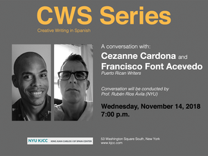 image from CWS Series | Conversation with Cezanne Cardona and Francisco Font