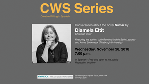 image from CWS Series | Conversation about the novel Sumar by Diamela Eltit