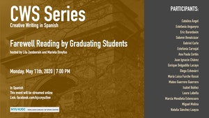 image from Online Event | CWS Series | Farewell Reading by Graduating Students