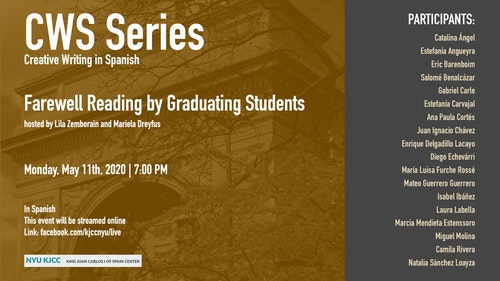 Online Event | CWS Series | Farewell Reading by Graduating Students