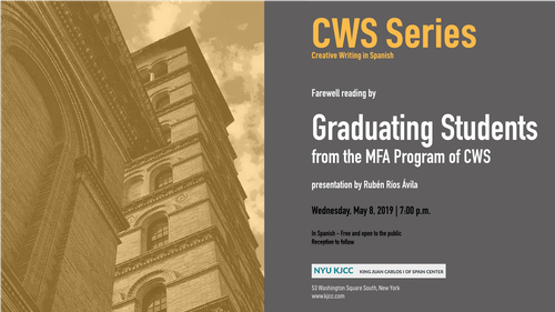 Farewell Readings by Graduating Students from the MFA Program of CWS 2017-2019