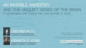 image from VIDEO | Cristina Pato - King Juan Carlos Chair | A CONVERSATION WITH CRISTINA PATO AND KENNETH S. KOSIK: An Invisible Ancestry and the Unquiet Genes of the Brain