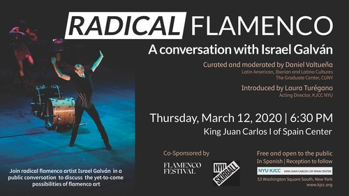 **EVENT CANCELLED** Radical Flamenco: A CONVERSATION WITH ISRAEL GALVÁN