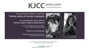 "image from KJCC Poetry Series | Collective reading of the poem by María Mascheroni and Teresa Arijón ""Hierba sobre el mundo castigado"""