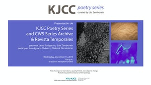 image from KJCC Poetry Series | Launch of Revista Temporales and the Digital Archive of the CWS Series and KJCC Poetry Series
