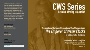 image from **EVENT CANCELLED** CWS Series | Presentation of the Spanish translation of Yusef Komunyakaa's The Emperor of the Water Clocks