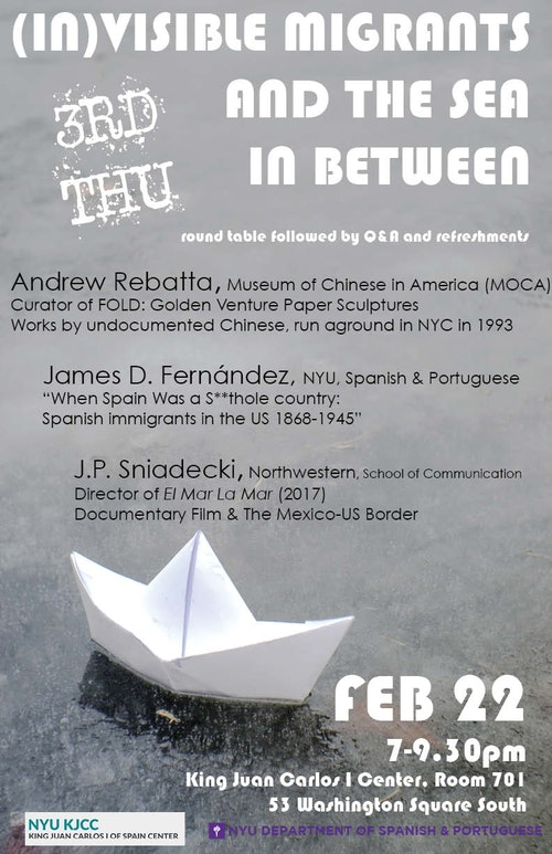 Third Thursdays: (IN)VISIBLE MIGRANTS AND THE SEA IN BETWEEN