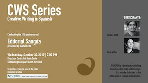 image from CWS Series | Celebrating the 11th Anniversary of Sangría Publishers (New York-Chile)