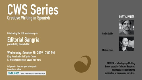 CWS Series | Celebrating the 11th Anniversary of Sangría Publishers (New York-Chile)