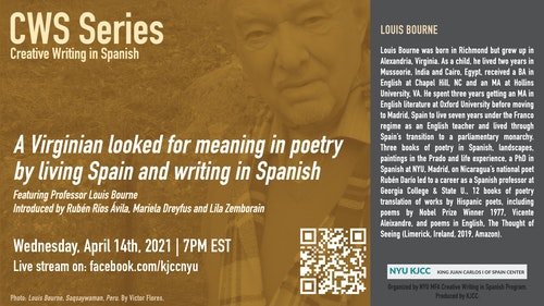 Online Event | CWS Series | A Virginian looked for meaning in poetry by living Spain and writing in Spanish