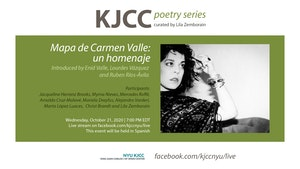 image from Online Event | KJCC Poetry Series | Mapa de Carmen Valle: un homenaje