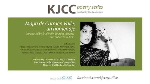 Online Event | KJCC Poetry Series | Mapa de Carmen Valle: un homenaje