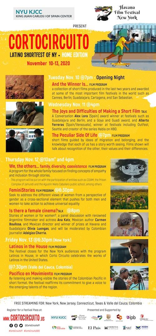 Cortocircuito Latino Shortfest of NY Home Edition | November 10-13, 2020