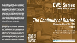 image from Online Event | CWS event featuring Luis Chitarroni: Continuidad de los diarios