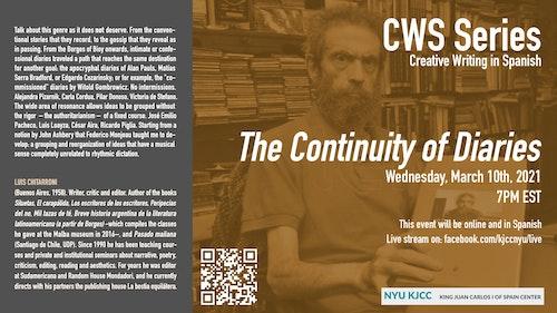 Online Event | CWS event featuring Luis Chitarroni: Continuidad de los diarios