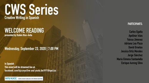 Online Event | CWS Series | Welcome Reading by the MFA Students