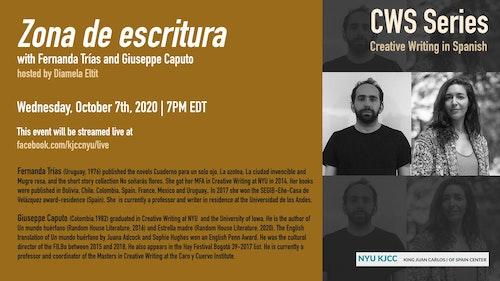 Online Event | CWS Series | Zona de escritura with Fernanda Trías and Giuseppe Caputo