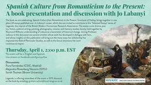 image from Online Event | Spanish Culture from Romanticism to the Present: A book presentation and discussion with Jo Labanyi