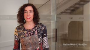 image from Video Interview | Prof. Marisa Belausteguigotia, Spring 2019 Andrés Bello Chair in Latin American Cultures and Civilizations