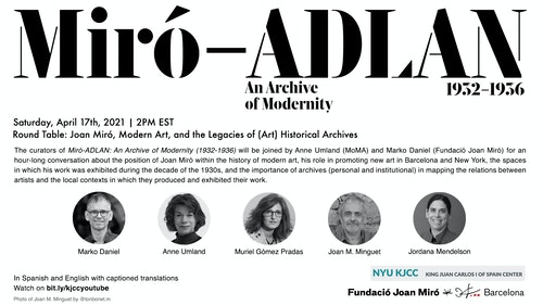 Online Event | Round Table: Joan Miró, Modern Art, and the Legacies of (Art) Historical Archives