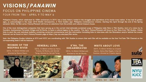 SULO/KJCC Film Series: VISIONS/PANAWIN - Focus on Philippine Cinema - Four from TBA Studios