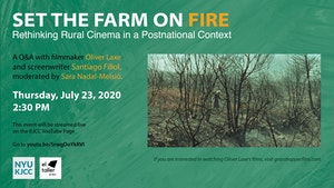 image from Online event | el taller @ KJCC | Set the Farm on Fire: Q&A with Oliver Laxe and Santiago Fillol