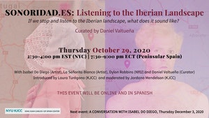 image from Online Event | SONORIDAD.ES: LISTENING TO THE IBERIAN LANDSCAPE