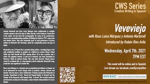 Online Event | CWS Event | Veveviejo, with Rosa Luisa Márquez y Antonio Martorell Introduced by Rubén Ríos Avila