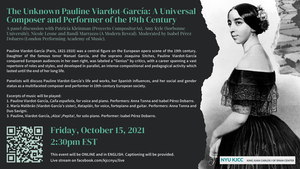 image from Online Event | The Unknown Pauline Viardot-García: A Universal Composer and Performer of the 19th Century
